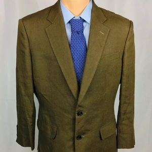 Chester Barrie Linen Brown Savile Row Size 40S